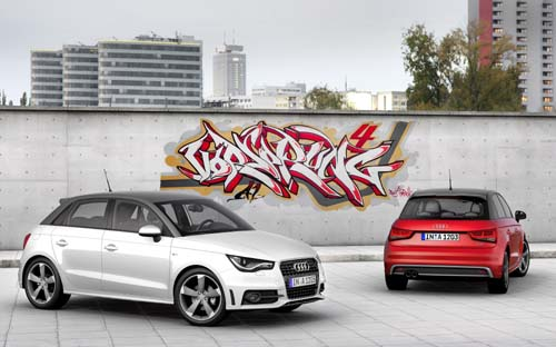 Audi A3 white red